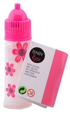 Poppenflesje met melk en geluid / Baby Rose