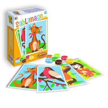 Zandkaarten Mini - Knuffel vriendjes / Sablimage