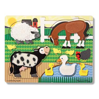 Houten voelpuzzel boerderij (4 stukjes) / Melissa & Doug
