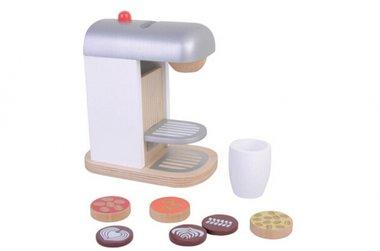 Houten koffieapparaat met accessoires / Jouéco