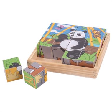 Houten blokpuzzel Wilde dieren (16 st) / BigJigs