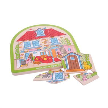 Houten puzzel Familie huis (33 stukjes) / BigJigs
