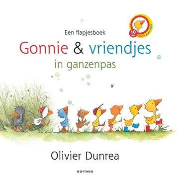Gonnie en vriendjes in ganzenpas (flapjesboek) 2+. / Gottmer
