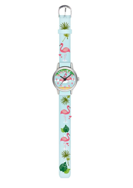 Kinderhorloge - Flamingo (blauw) / Kids Watch