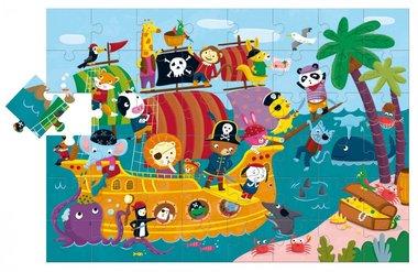 Het Piratenschip - Grote puzzel (48 XXL) / Ludattica
