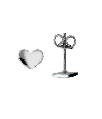 Zilveren kinderoorknopjes - hart / Lilly