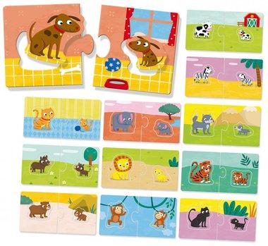 Puzzel Baby's en Moeders (12 x 4 st) / Ludattica