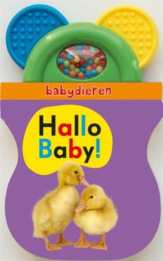 Hallo Baby! Babydieren (kartonboekje met rammelaar) / Veltman Uitgevers