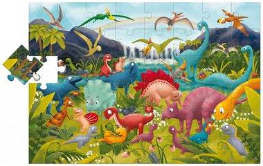 Dinosauriërs - Grote puzzel (48 XXL) / Ludattica