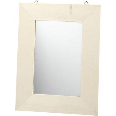 Houten spiegel / Foam Clay