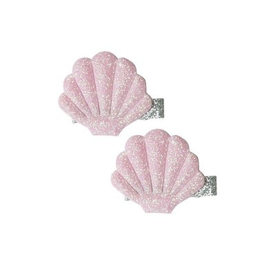 Haarclips Glitter schelpen (2 st) / Global Affairs