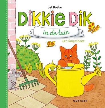 Dikkie Dik in de tuin (flapjesboek/karton). 1+