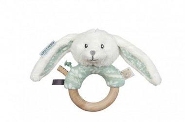 Adventure Mint Rammelaar met Houten Ring / Little Dutch