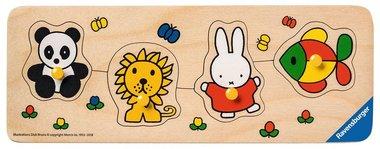 Houten puzzel Speelplank Nijntje in de dierentuin. 1+ / Ravensburger