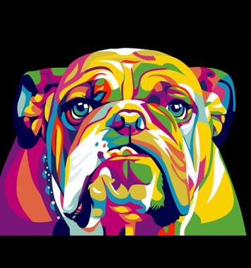Schilderen op nummer Engelse Bulldog / Artventura