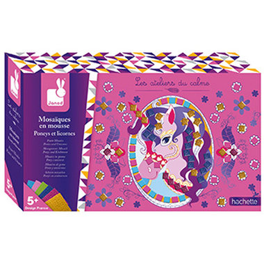 Atelier - Pony's en eenhoorns foam mozaiek / Janod