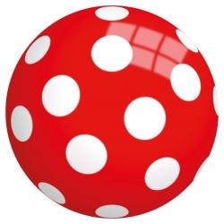 Bal rood met stippen (23 cm) / John