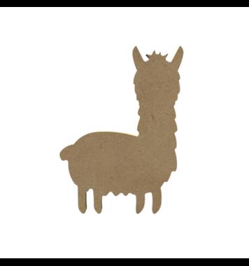 Houten knutselfiguur Alpaca (lama) / Foam Clay (Gomille)
