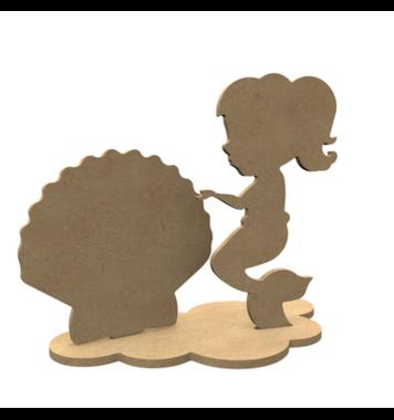 Houten knutselfiguren set Zeemeerminnen / Foam Clay (Gomille)