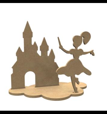 Houten knutselfiguren set Feeën / Foam Clay (Gomille)