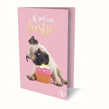 Verjaardagsuitnodigingen hond (set van 6)