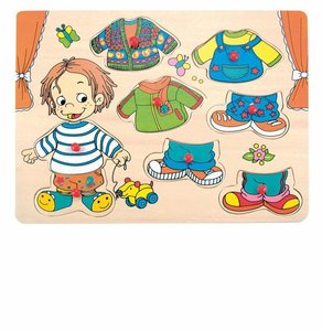 Houten aankleed jongens puzzel / Woody