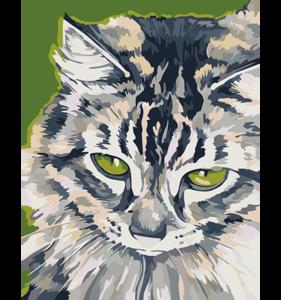 Schilderen op nummer Cyper Kat / Artventura