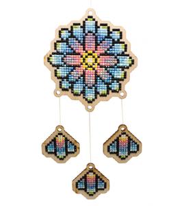 Houten Dromenvanger Kaleidoscoop / Wizardi Diamond Painting