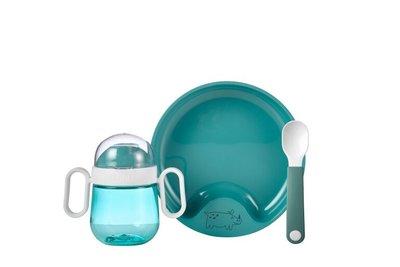 Babyservies Mio 3-delig - deep turquoise / Mepal