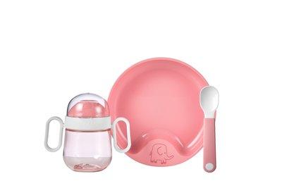 Babyservies Mio 3-delig - deep pink / Mepal