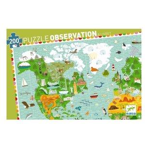 Observatie puzzel wereldreis (200 st.) / Djeco
