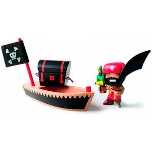 houten piratenbootje El loco Art Toys djeco