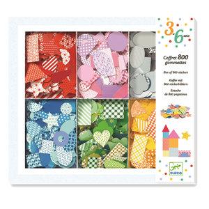 Box met 800 confetti stickers / Djeco