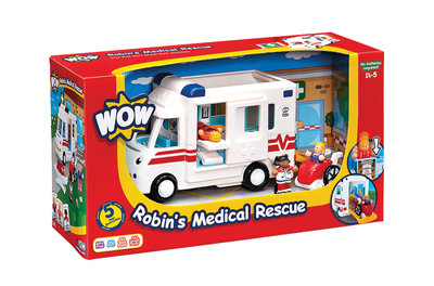 Robin's ziekenwagen/WOW Toys 1