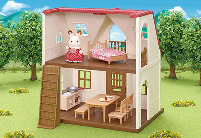 Poppenhuis Startershuis Red Roof Cosy Cottage / Sylvanian Families