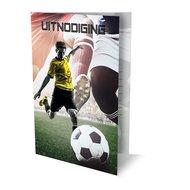Uitnodiging Voetbal (set van 6)