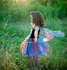 Feeënjurk bloemen met vleugels Blauw/roze M / Great Pretenders_